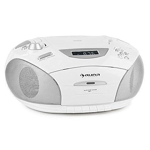 auna RCD220 Boombox multimédia (avec lecteur CD, USB, lecteur K7,