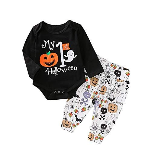 Writtian Neugeborenes Baby Halloween Brief Kürbis Strampler