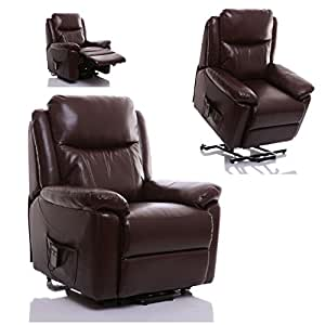 The Oxford Riser Recliner Lift And Tilt Chair In Hazelnut Faux Leather A
