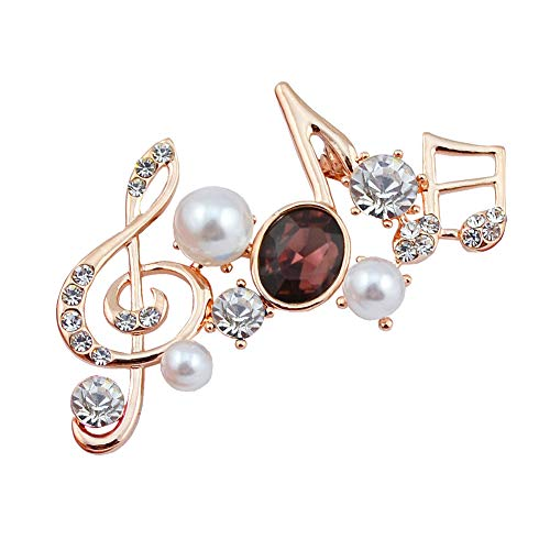 Da.Wa 1 Stück Gold Traube Lila Diamant Musik Kristall Brosche Perle Diamantlegierung Brosche Kleid Pin Schal Schnalle Schmuck Weiblich (Kostüm Lila Trauben)