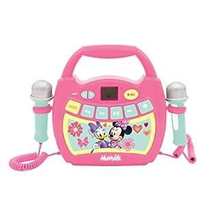 LEXIBOOK Disney Minnie Mouse, Mi Primer Reproductor Digital Bluetooth con 2 micrófonos, inalámbrico, función Grabar, Puerto USB, AUX-IN, SD/TF, a Partir de 3 años, Rosa MP300MNZ, Color Verde