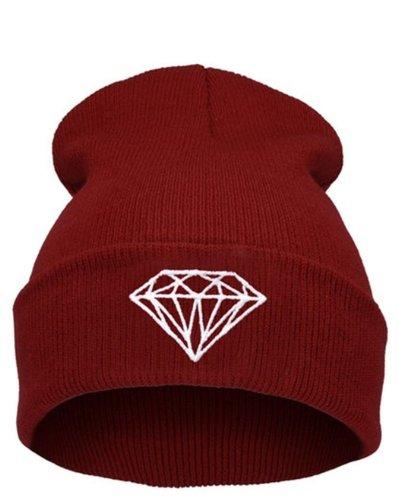 Beanie Dunkelrot Diamond