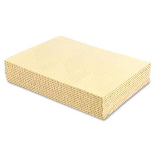 sparco-memorandum-pads-wide-rule-16-lbs-8-1-2-x-11-inches-canary-spr5083sp