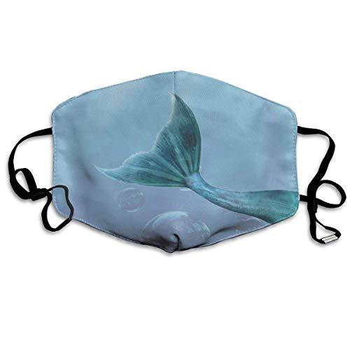 SDGSS Mund Maske,Underwater Mermaid Tail Unisex Fashion Warm Anti-Dust Washable Reusable Mund Maske