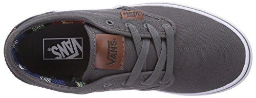 Vans ATWOOD, Unisex-Kinder Sneakers Grau ((Canvas) pewter F9K)