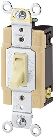 Cooper câblage appareils 1242–7A-sp-l 15-Amp, 120-volt Standard Grade 4voies encadrée à bascule AC commutateur Silencieux, 1242-7A-SP-L, 120
