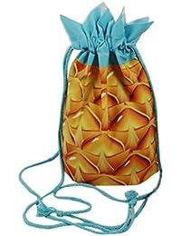 Sannysis bolsos con cordón, mochila infantil Impresión 3d, Diseño de frutas