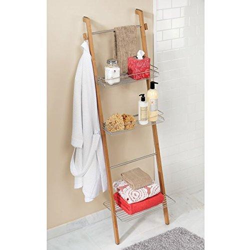 Mdesign appendiasciugamani in bamb porta asciugamani - Porta asciugamani bagno senza forare muro ...