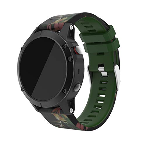 Yallylunn Schnellverschluss-Silikonband Mit Atmungsaktivem Komfortband Wasserdicht Und SchweißFest FüR Garmin Fenix 5 Plus