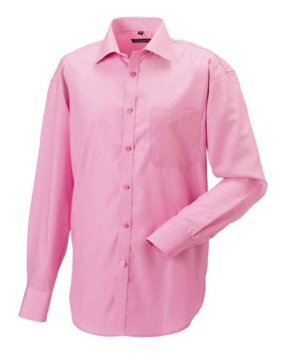 Langarm Business-Hemd aus Tencel® Bright Pink