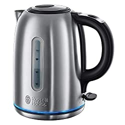 Russell Hobbs 20460 Quiet Boil Kettle, Brushed Stainless Steel, Silver, 3000 W, 1.7 Litre