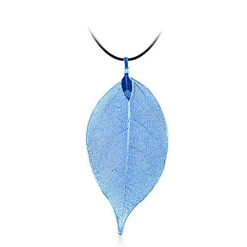 TAOtTAO Necklaces Frauen Spezielle Blätter Blatt Pullover Anhänger Halskette Damen Lange Kette Schmuck -
