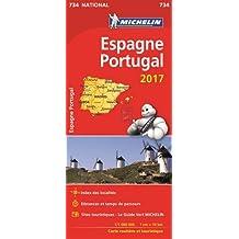 Carte Espagne, Portugal Michelin 2017