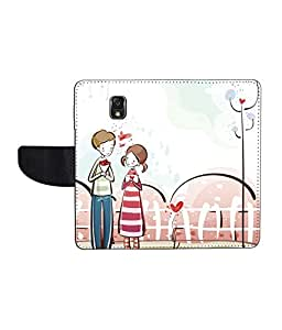 KolorEdge Printed Flip Cover For Samsung Note 3 N9000 - Multicolor