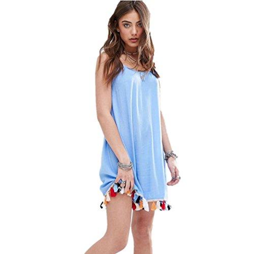 DOLDOA Frauen Tassal Camis Damen Party Abend Mini Kleid (Größe: 38 Fehlschlag: 86cm / 33.9