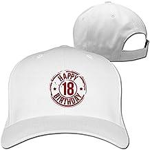 Ash 18 feliz cumpleaños ajustable sombreros