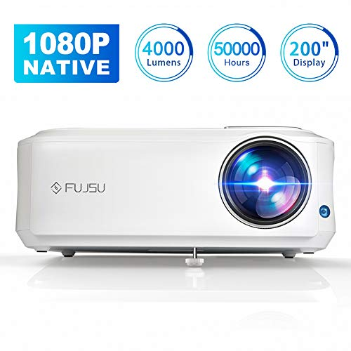 FUJSU 4000 Lumen Beamer Native 1080p (1920 x 1080) Full HD Heimkino Beamer 200