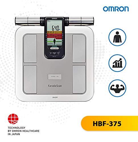 Omron hbf-375Elektronische Personenwaage quadratisch grau Personenwaage