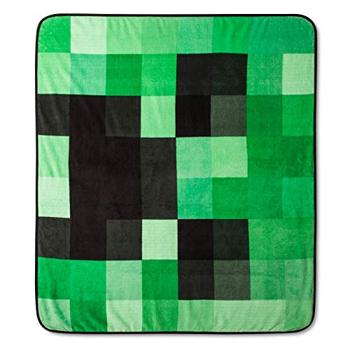 Jay Franco Minecraft Mojang Creeper Graphic Super Plüsch Fleece Decke Überwurf