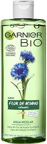 Garnier BIO -  Cofre Rutina con Crema Hidratante Nutritiva con Aceite de Argán y Ácido Hialurónico 50 ml + Agua Micelar con Agua de Flor de Aciano 400 ml