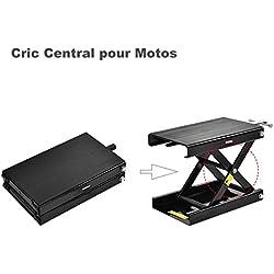 SUNCOO - Lève Moto, Cric, Jack, béquille de Moto, Béquille de Levage Ajustable pour réparation Entretien Nettoyage de Motocyclettes & Motocross (Noir)