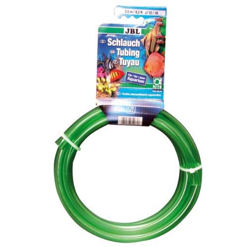 JBL Wasserschlauch 2,5 m Länge, 9/12 mm Durchmesser, Aquaschlauch grün, 61082