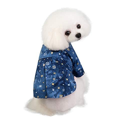 Football Kostüm Hunde - Haustier Hunde Katze Hemd Kleidung Sommer Kostüm Denim T-Shirt Hundebekleidung Kleine Katze Kleiner Hunde Pulli Hemden Shirts Haustierkleidung (M, Blue)