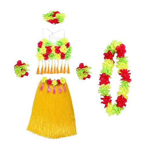 rmance Kostüm Grass Dance Rock Kopf Schleife Halskette Armband Tuch Set für Mädchen Frau Dame Weiblich ()