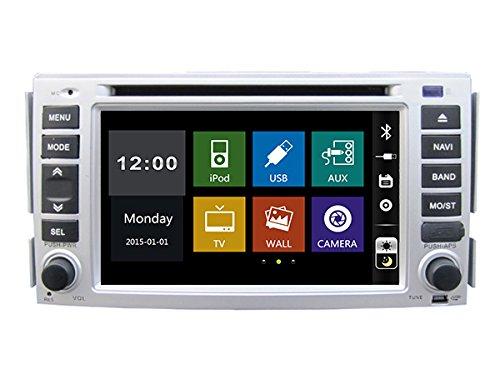 15,7cm-INDASH Auto DVD-Player mit BT/TV, USB/SD AUX, Audio Radio Stereo, Car Multimedia Haupteinheit für Hyundai Santa Fe 20072008200920102011/Hyundai Elantra 2000200120022003200420052006