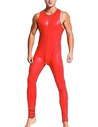 Fitness & Jogging Fitnessmode Retro Body Catstuit kurzes Bein shorts Arm wetlook Herren Fitness Musekl Joggen