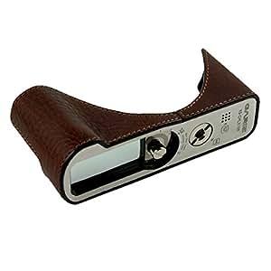 sac de GARIZ Étui de cuir véritable pour Panasonic Lumix DMC-LX100 (sac en cuir, sac Bulletinde l'appareil photo, avec fond en aluminium brossé et fonctionnels de nombreux détails (XS-CHLX100BR ... SIOCORE)