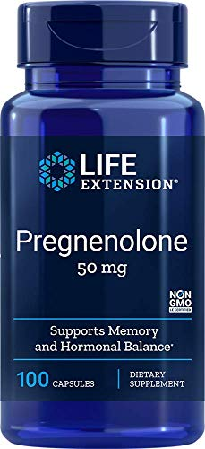 Life Extension Pregnenolone 50 Mg, 100 capsules