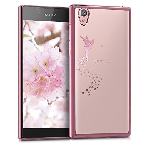 kwmobile Sony Xperia L1 Hülle - Handyhülle für Sony Xperia L1 - Handy Case in Rosegold Transparent