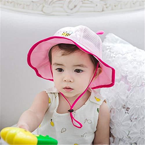 mlpnko Baby Mütze Baumwolle 0-12 Monate Baby Becken Kappe Sonnenblende Sonnencreme Fischerhut kleine Masche Kappe Rosa - Oktopus Baby Kostüm
