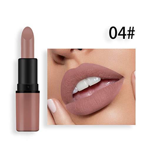 TTLOVE Matte Lippenstift, KüRbis Farbe Bohnenpaste Lipgloss Kosmetik Und Lip Solid Gloss Lipstick...