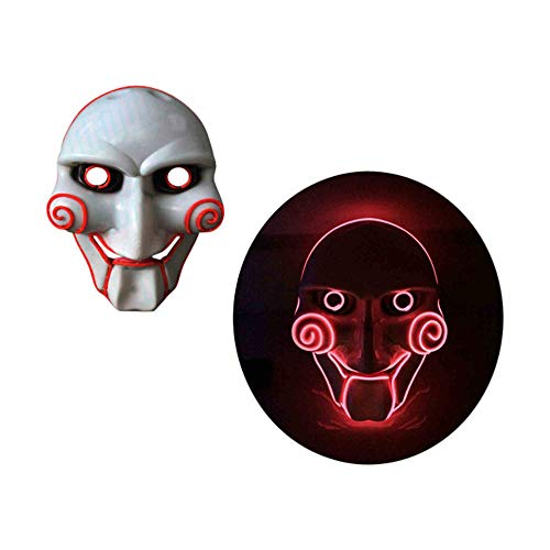 grau.zone Halloween Leuchtmaske Gesichtsmaske leuchtende Horror Karneval -