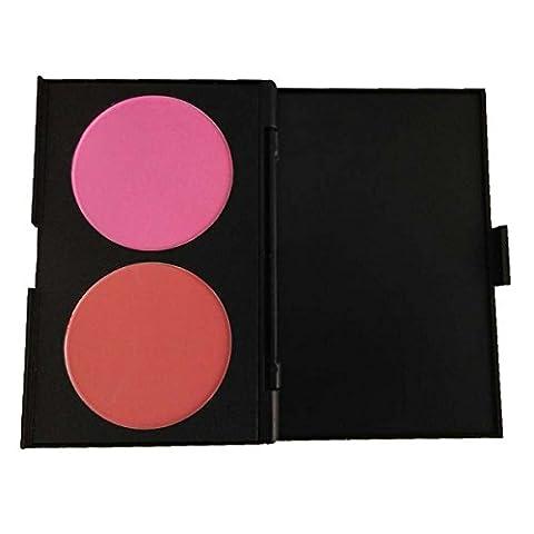 PhantomSky 2 Couleurs Palette de Maquillage Blush Fard à Joues Poudre Cosmétique Set - Parfait pour une utilisation professionnelle et quotidienne
