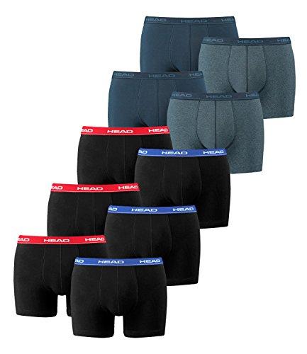 Head Boxershorts 10er Pack - 10 Stück 3x2er Red/Blue/Black / 2x2er Blue Heaven