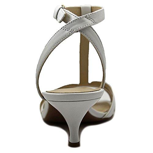 Nine West Odarlin abito sandali scarpe di cuoio White