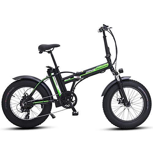 Desconocido Bicicleta eléctrica 4 0 Fat Tire Bicicleta Eléctrica Playa Cruiser Bicicleta Booster Bicicleta...