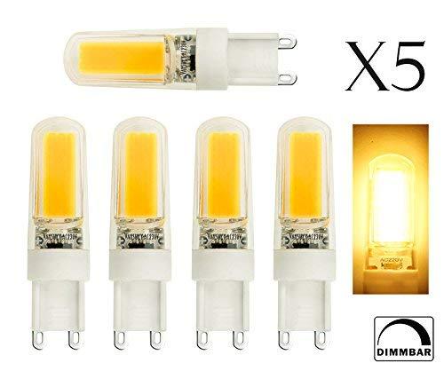 ALBN 5er G9 Sockel 4W LED Glühbirne, 3000 k (warmes Weiß) 350lm, Äquivalent zu 35W Halogen-Ersatz, AC220V-240V, 360 Omni-Richtung Beam-Winkel. -
