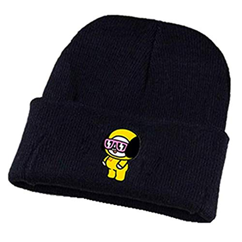 Silver Basic BT21 Musik-Fanbekleidung Strickmütze BTS Bangtan Boys Beanie Mütze Chimmy Cooky Koya Mang RJ Shooky Tata Van Wollmütze (One Size, Chimmy)