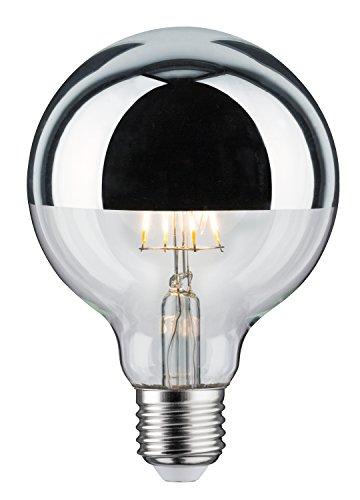 Paulmann 283.87 LED Globe Ø95mm 5W E27 230V Kopfspiegel Silber Warmweiß 28387 Leuchtmittel Lampe