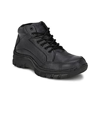 Peter John Leather's pj_091_black_6 Steel Toe Safety Ankle Boots, Size 6 (Black)