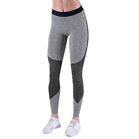 DAYLIN Women Sports Gym Yoga Mid Waist Running Pants Fitness Elastic Leggings (M, Black)