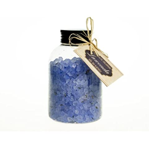 Sal de baño - Bath salts with lavender and dried lavender flowers (500 g).