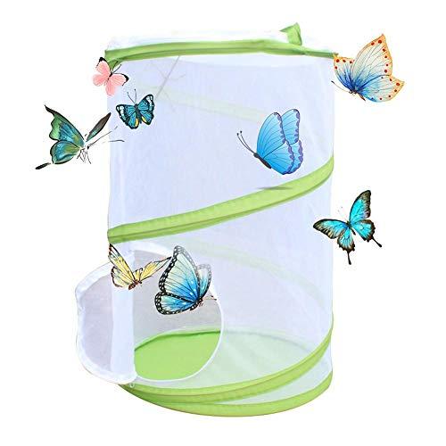 kelihood Insectos y Jaipa de Mariposa Jaula Plegable Grande Insecto PVC Mosquitera Planta Siembra Caja de Comida de Invernadero para Reptiles Fácil de Plegar