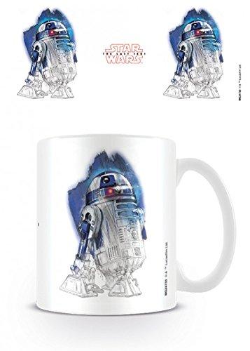 1art1 Set: Star Wars, Episode VIII, Die Letzten Jedi, R2-D2 Astromech Droid Foto-Tasse Kaffeetasse (9x8 cm) Inklusive 1x Überraschungs-Sticker