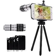 Lente Telefoto para iPhone, Evershop®10X lente + Mini trípode de aluminio ajustable + caso duro para el iPhone 5 5S / 6S 6S Plus 6/6 Más