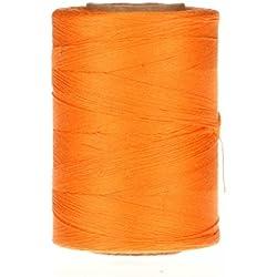 Hilo de Algodón Mercerizado Hilo, color Tangerine, para joyería Macramé